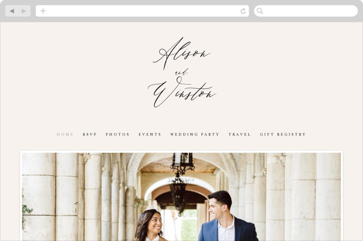 """Timeless"" - Wedding Websites in Taupe by Leah Bisch."