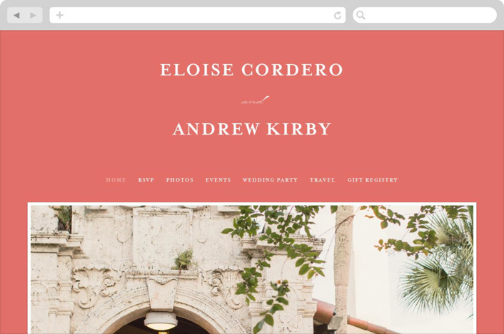 This is a orange wedding website by Lea Delaveris called a grand day printing on digital paper.