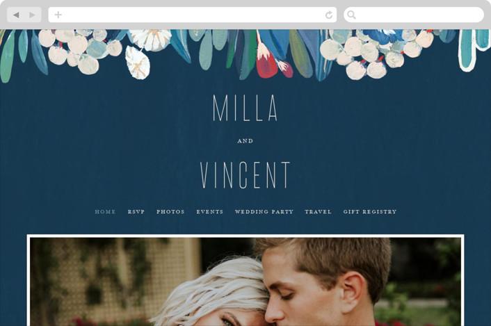 """""""Floral Burst"""" - Wedding Websites in Ocean by Morgan Ramberg."""