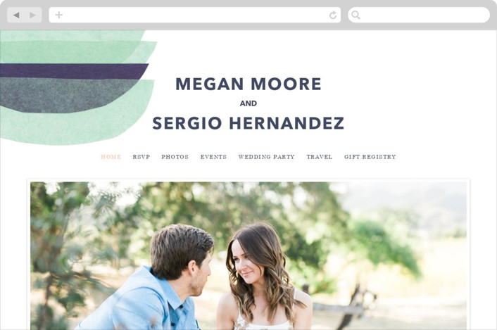 This is a green wedding website by Carrie Moradi called tissue union printing on digital paper.
