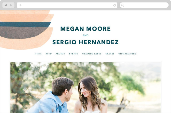 This is a orange wedding website by Carrie Moradi called tissue union printing on digital paper.