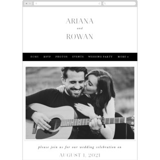 This is a black and white wedding website by Hooray Creative called Namely printing on digital paper.