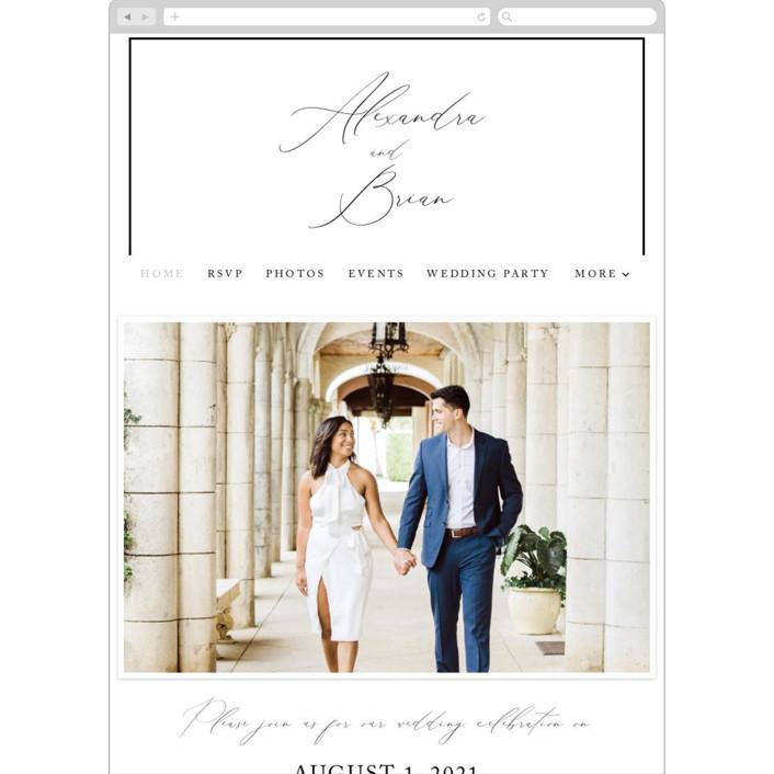 """Love Story"" - Wedding Websites in Alabaster by Liz Conley."
