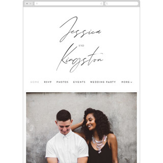 This is a brown wedding website by shoshin studio called requiem printing on digital paper.