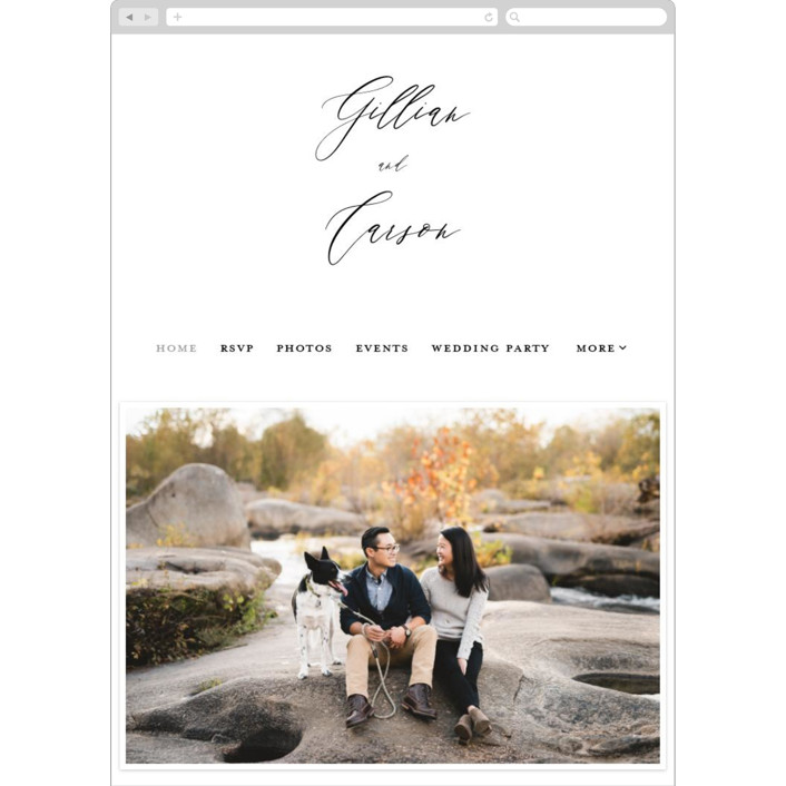 """Villa"" - Wedding Websites in Pearl by Chryssi Tsoupanarias."