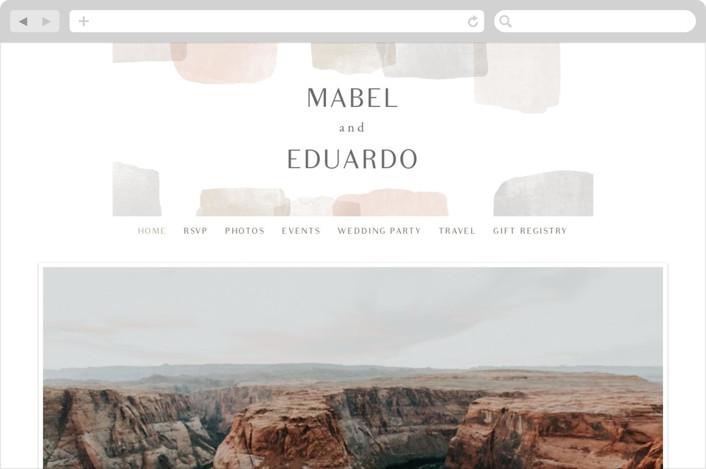 """Sculpture Garden"" - Modern Wedding Websites in Desert by Hooray Creative."