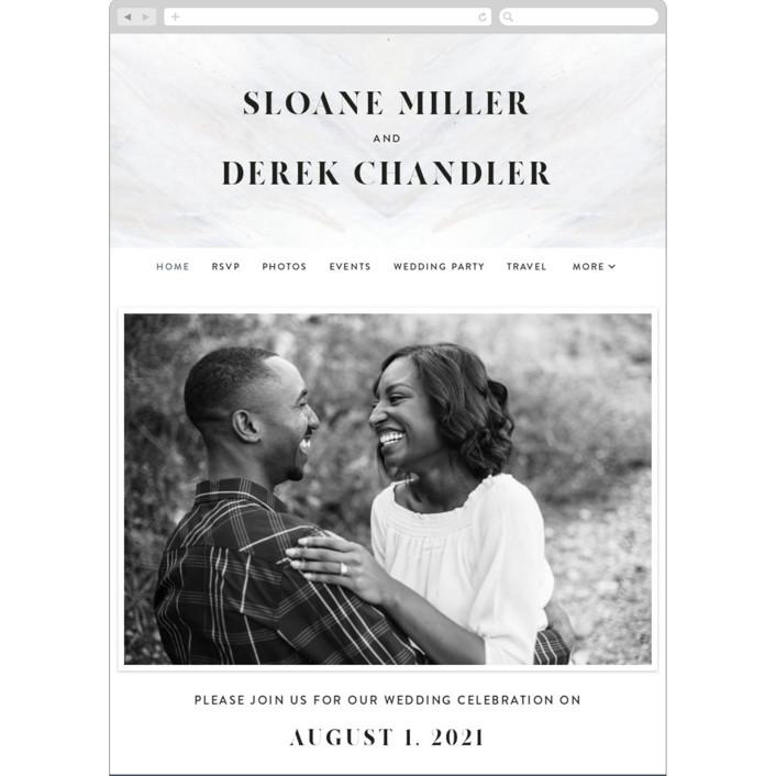 """""""wishful"""" - Modern Wedding Websites in Tide by Kate Ahn."""