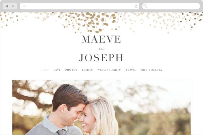 """Organic Dots"" - Bohemian Wedding Websites in Champagne by lena barakat."