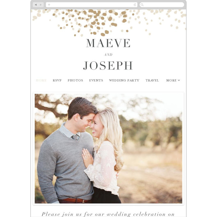 """Organic Dots"" - Bohemian Wedding Websites in Champagne by lena barakat."