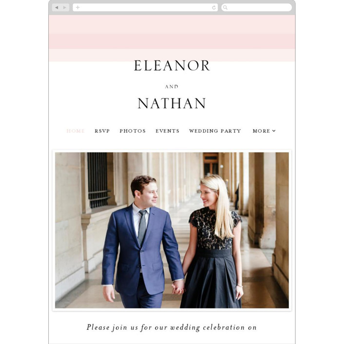 """Transparent"" - Wedding Websites in Magnolia by Erin Deegan."