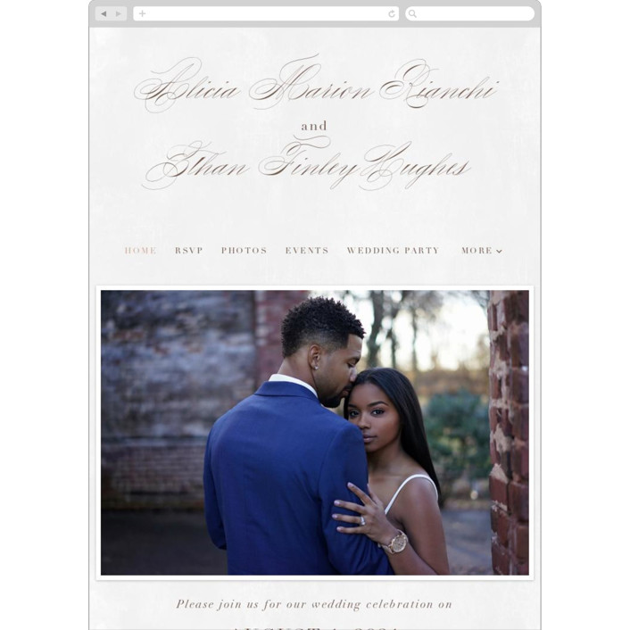 """Sonesta"" - Wedding Websites in Mineral by Hooray Creative."