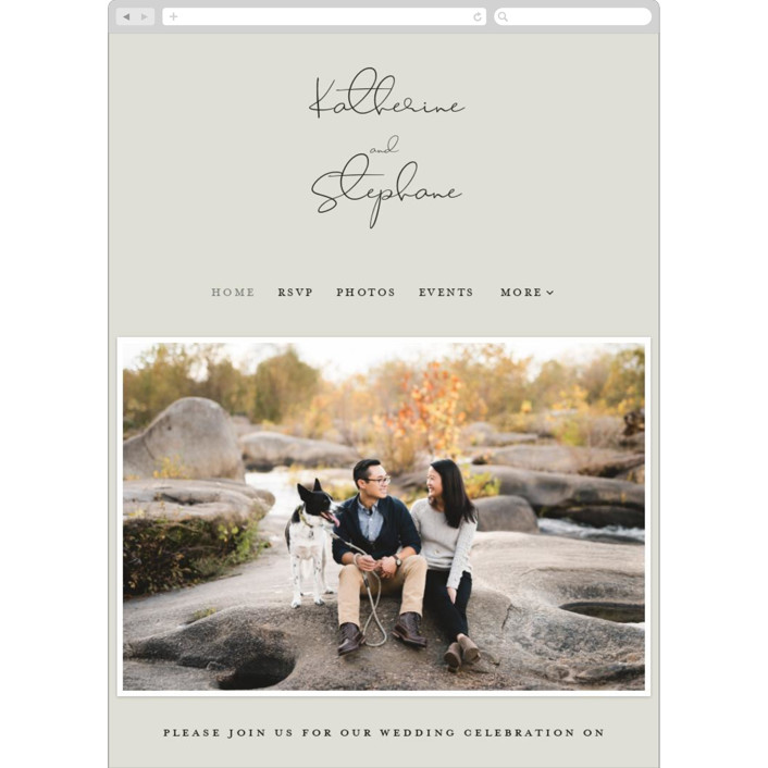 """sweet sweet elegance"" - Wedding Websites in Dutch Cream by frances."