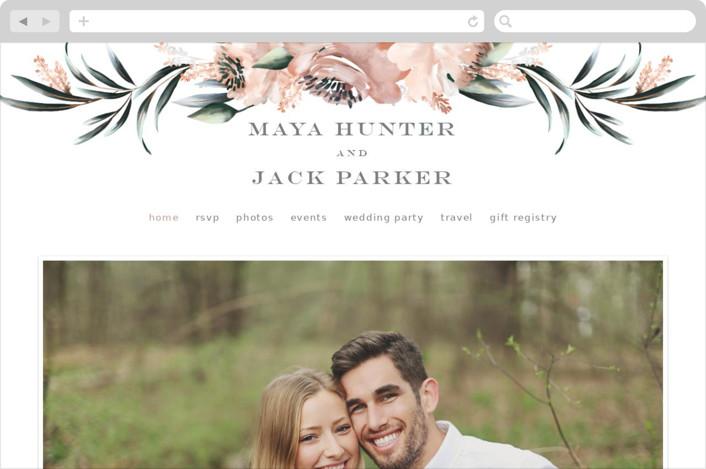"""Maya Rustica"" - Wedding Websites in Rose by Petra Kern."