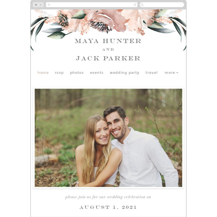 """Maya Rustica"" - Wedding Websites in Rose by Petra Kern."