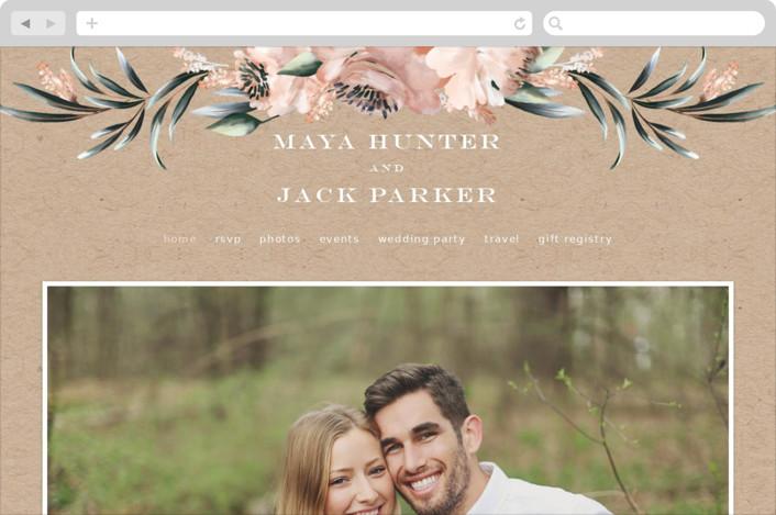 This is a brown wedding website by Petra Kern called Maya Rustica printing on digital paper.