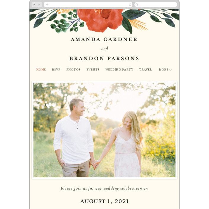 """Flourishing"" - Wedding Websites in Bloom by Beth Schneider."