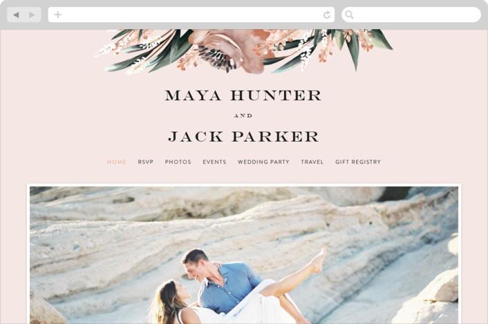 This is a orange wedding website by Petra Kern called Rustica printing on digital paper.