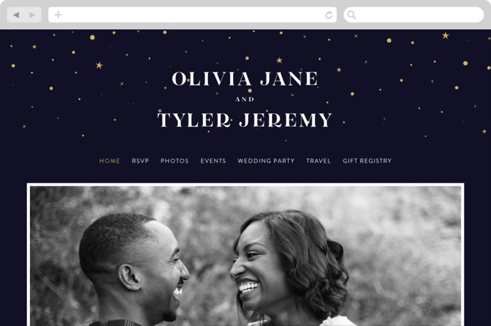 """Magical day"" - Bohemian Wedding Websites in Navy by katrina gem."