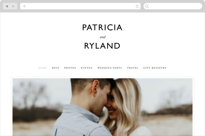 This is a white wedding website by That Girl Press called Ordered Grace printing on digital paper.