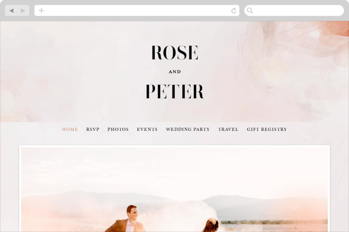 """Romantic"" - Wedding Websites in Earth by Lori Wemple."