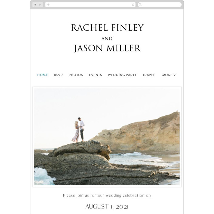 """Sand & Sun"" - Wedding Websites in Ocean by Nicole Walsh."