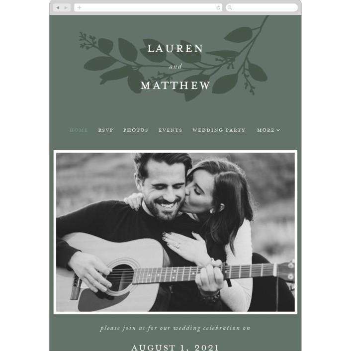 """""""Falling Branch"""" - Wedding Websites in Eucalyptus by Amy Kross."""