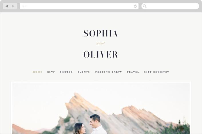 """Bold Love"" - Wedding Websites in Antique by Brandy Folse."