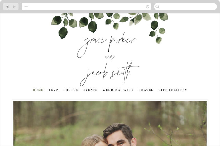 """""""green rush"""" - Wedding Websites in Snow by Anupama."""