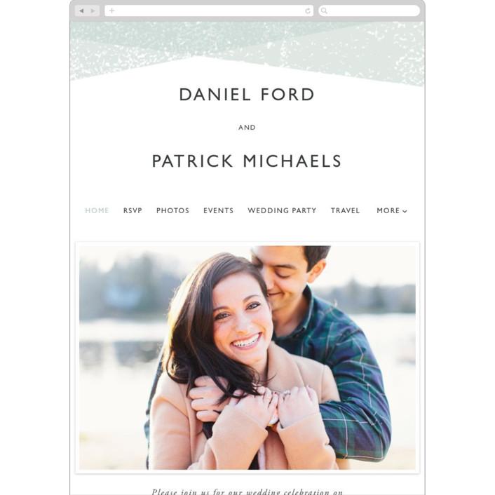 """""""Elegantly Minimal"""" - Wedding Websites in Seafoam by itsjensworld."""