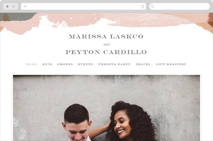 """Overlapping"" - Modern Wedding Websites in Blush by Jennifer Wick."