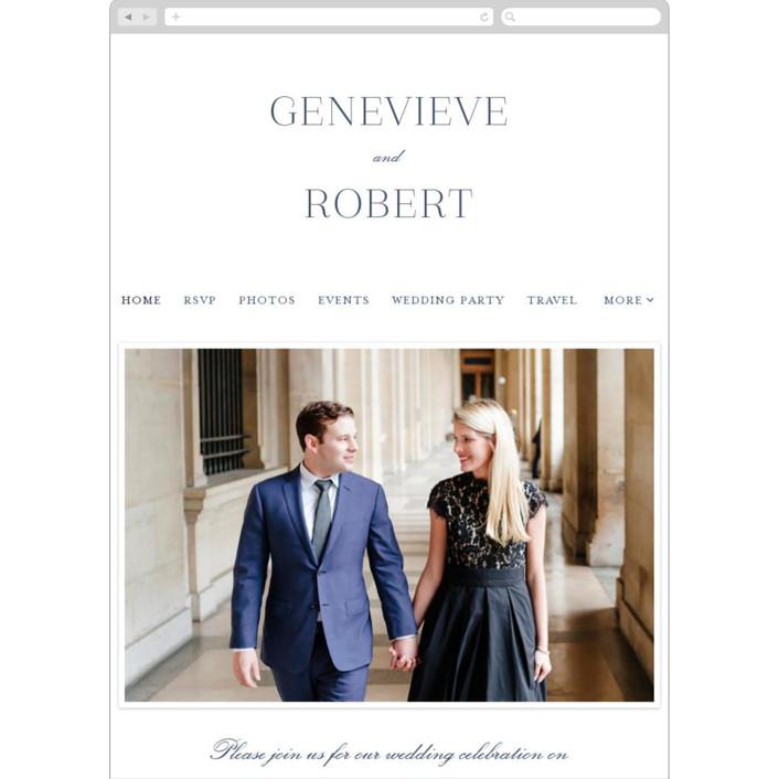 """Upper East"" - Wedding Websites in Charcoal by Toast & Laurel."