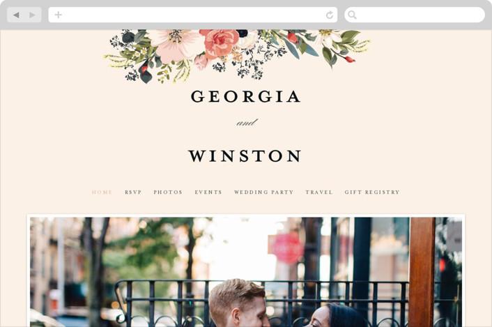This is a orange wedding website by Susan Moyal called Spring Botanicals printing on digital paper.