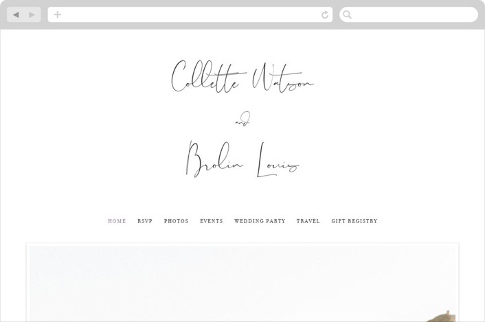 """Summer Palm"" - Wedding Websites in Plum by Baumbirdy."