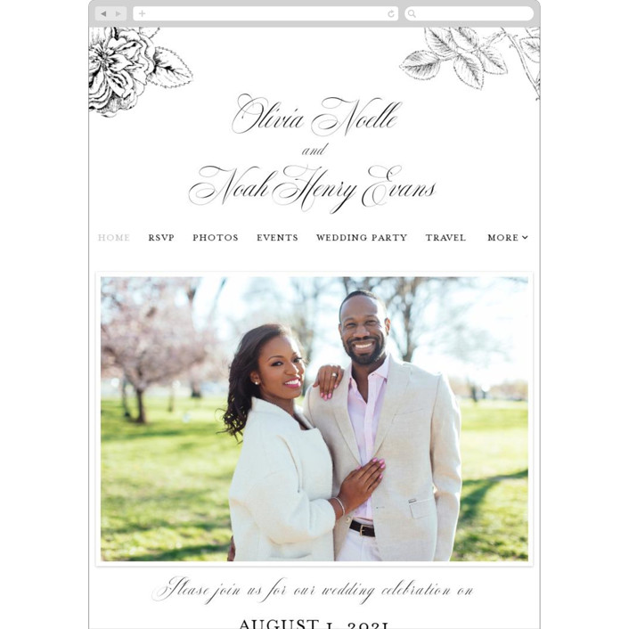 """Legacy"" - Wedding Websites in Pure by Design Lotus."
