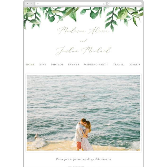 """""""Bright & Green"""" - Wedding Websites in Sprig by Amanda Day."""