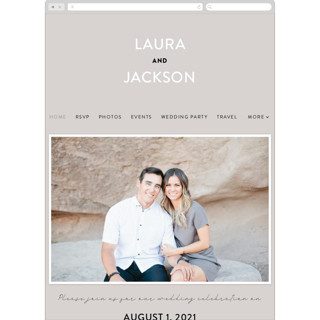This is a grey wedding website by Pixel and Hank called Styled printing on digital paper.