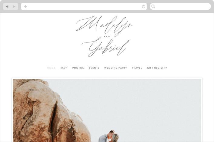 """""""Cummings"""" - Wedding Websites in Cotton by Amy Kross."""