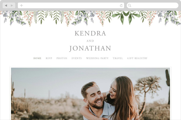 This is a green wedding website by Christie Elise called Spring Wildflowers printing on digital paper.