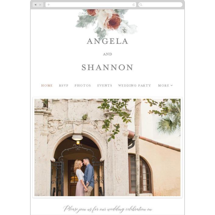 """rose drop"" - Wedding Websites in Rose by Cassandra Imagines."