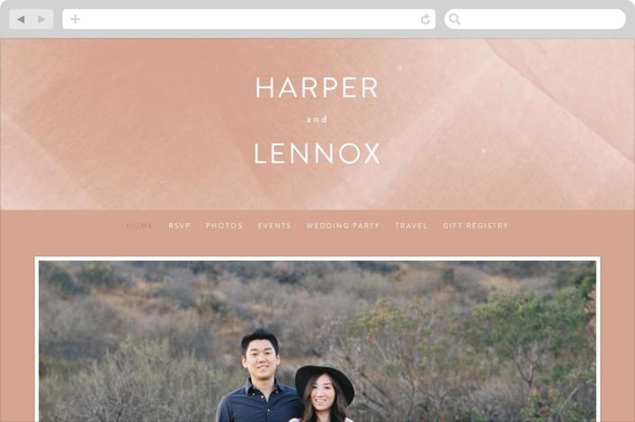 This is a orange wedding website by Phrosne Ras called plain paint printing on digital paper.