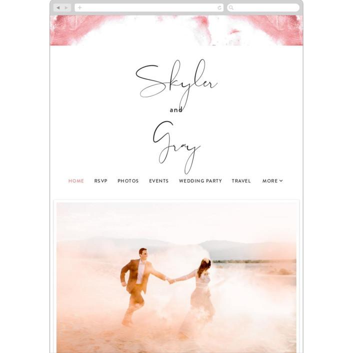 """living coral"" - Modern Wedding Websites in Coral by Phrosne Ras."