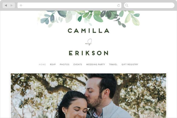 """Soft Eucalyptus"" - Wedding Websites in Garden by Yao Cheng Design."