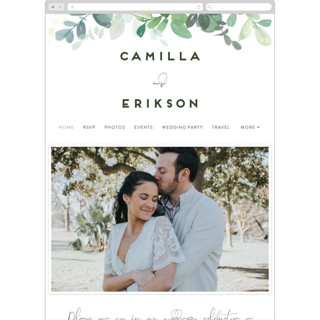 This is a green wedding website by Yao Cheng Design called Soft Eucalyptus printing on digital paper.