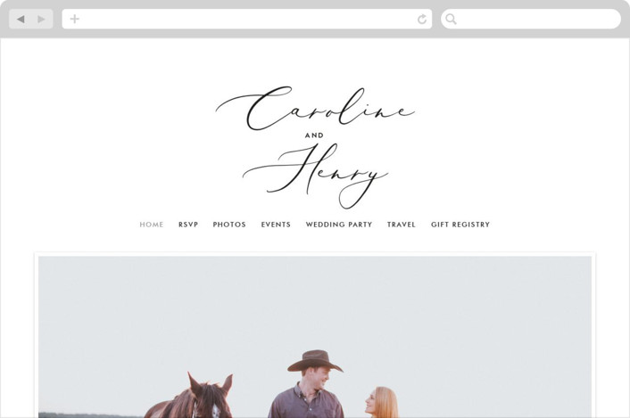 """""""Scripted Romance"""" - Wedding Websites in Classic by Katherine Moynagh."""