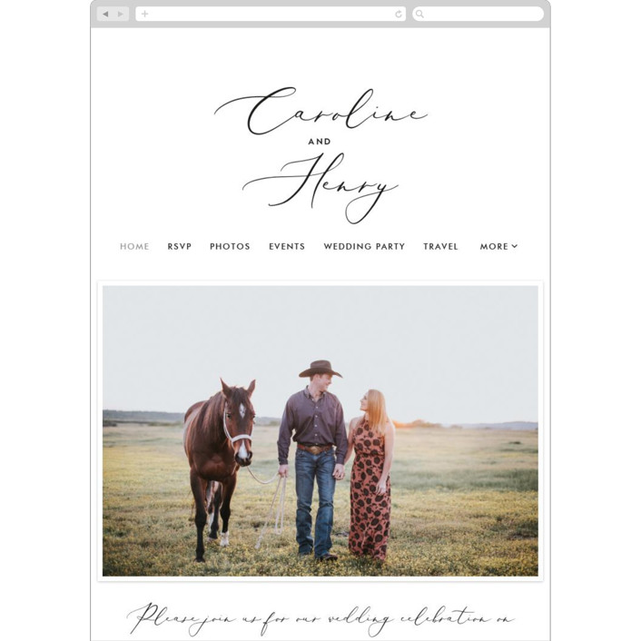 """Scripted Romance"" - Wedding Websites in Classic by Katherine Moynagh."