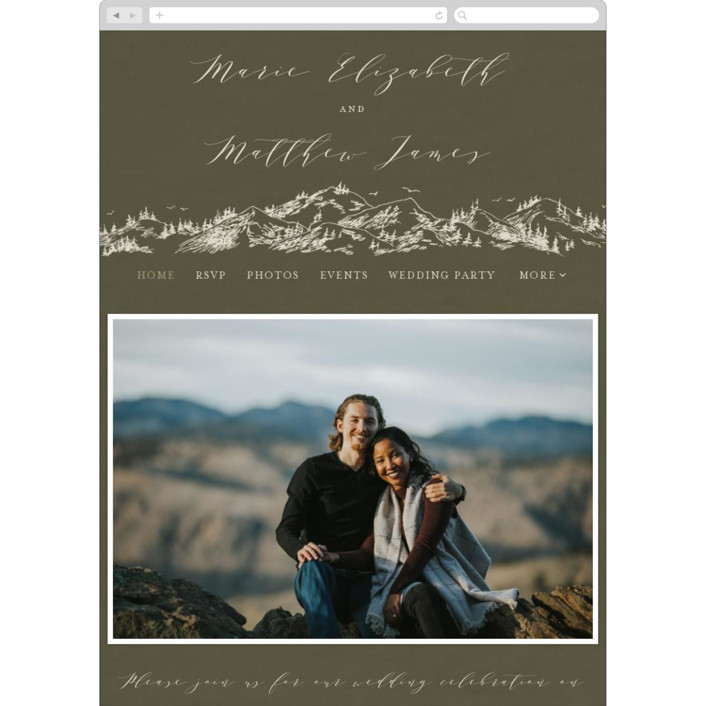 """""""into the mountains"""" - Rustic Wedding Websites in Olive by Helen Halik."""