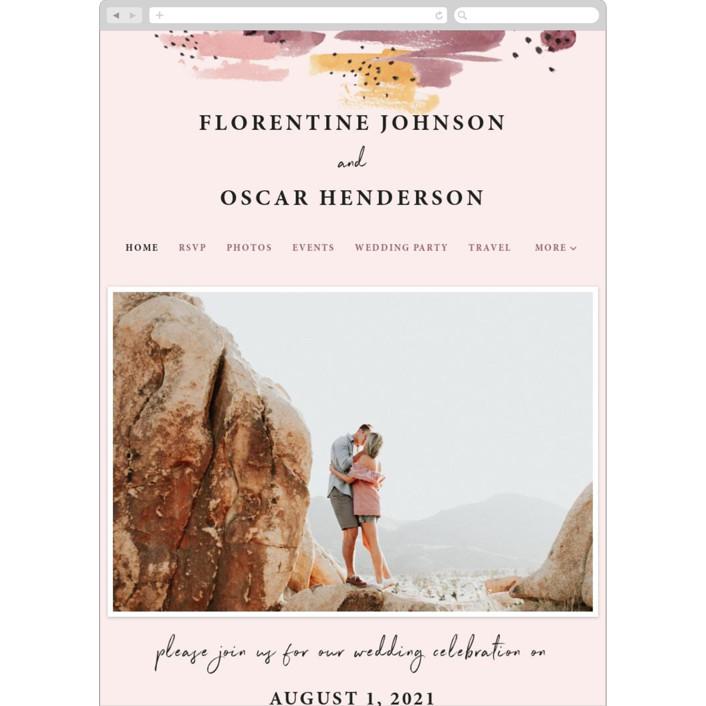 """""""Mod Brush"""" - Modern Wedding Websites in Blush by Lisa Fee Paura."""