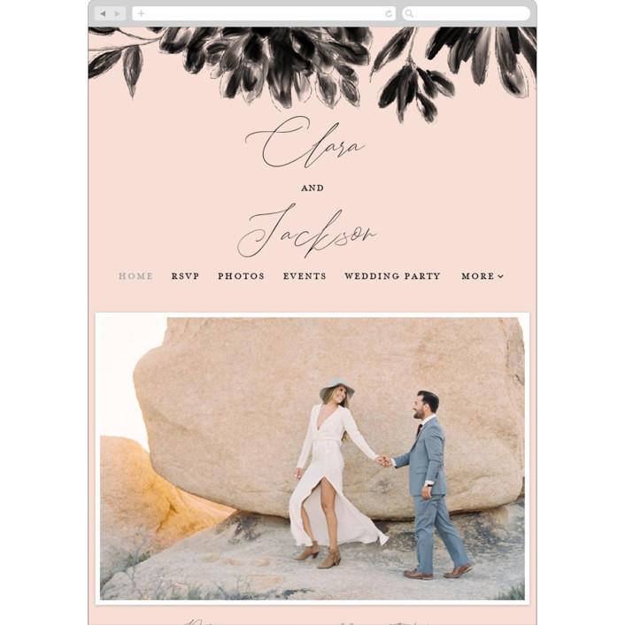 """Bare"" - Wedding Websites in Blush by Kelly Nasuta."