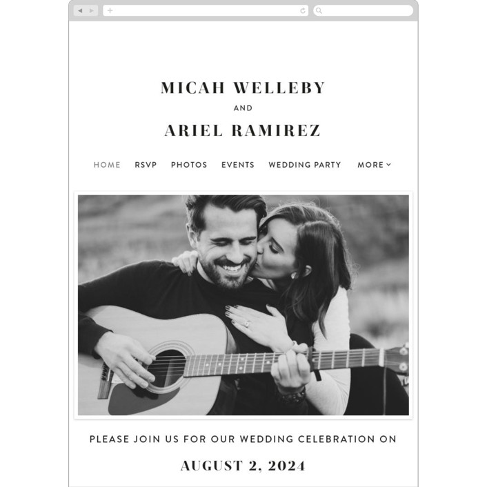 """""""Harmonie"""" - Wedding Websites in Cloud by carly reed walker."""