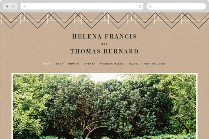 This is a brown wedding website by 2birdstone called Helena printing on digital paper.
